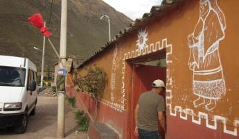 Headed back to Cusco: Stopped to get a Chicha (fermented corn drink)
