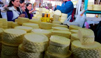 Cusco Market: Cheese!