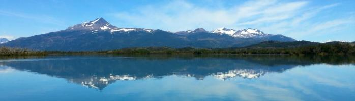 Such calm water while kayaking Patagonia