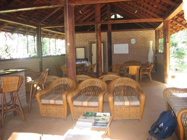 The main lodge offers plenty of space to linger as well as savor the gardens and forest on all sides