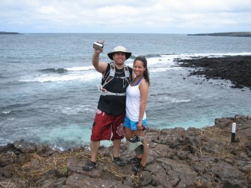 Together on the shores of the Galapagos