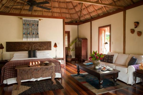 Luxurious cabanas showcase native art and antiques
