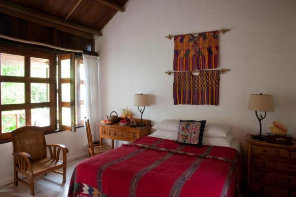 Brightly decorated casitas are inspired by native art