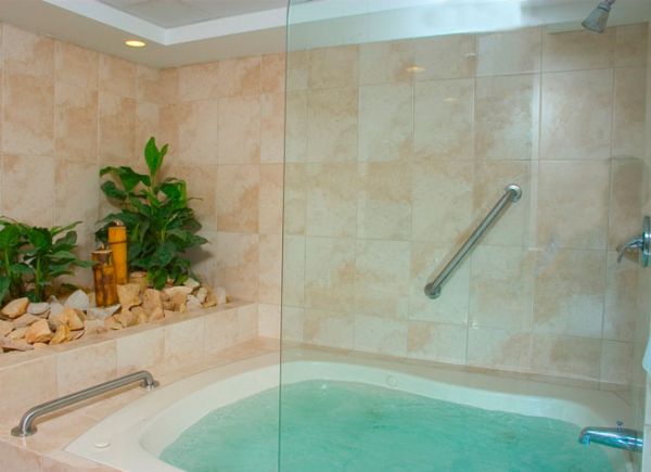 Spa Rooms include lavish bathrooms with two-person jacuzzi tubs