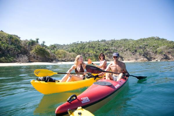 Enjoy a sea kayaking adventure on the Pacific Ocean