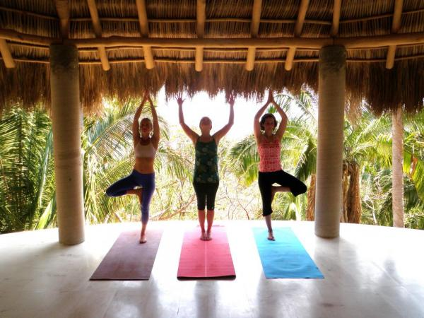 Yoga in the jungle is magical