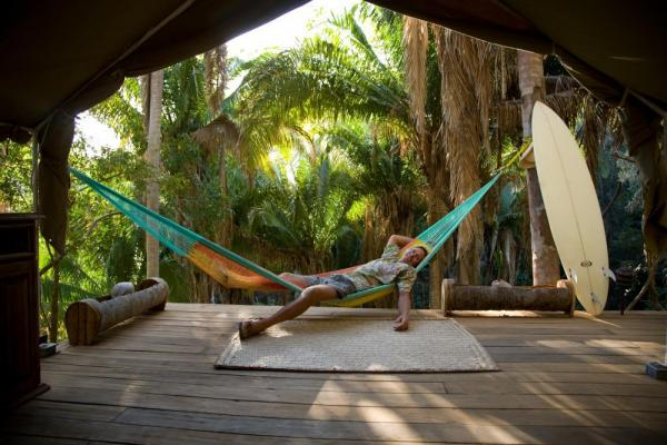 Relax and lounge in a hammock