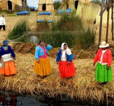The welcoming committee on the Uros Islands