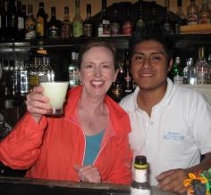 Learning to make pisco sours in Lima