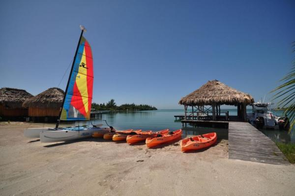 Enjoy numerous watersport activities right off the sandy beaches of St. George's Caye Resort