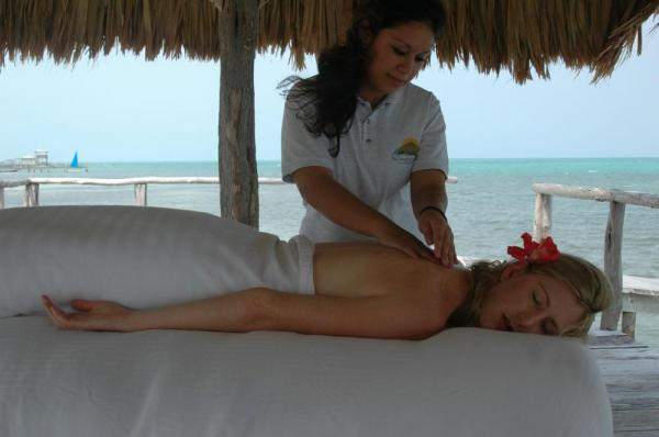 Enjoy signature treatments at St. George's Caye Island Spa