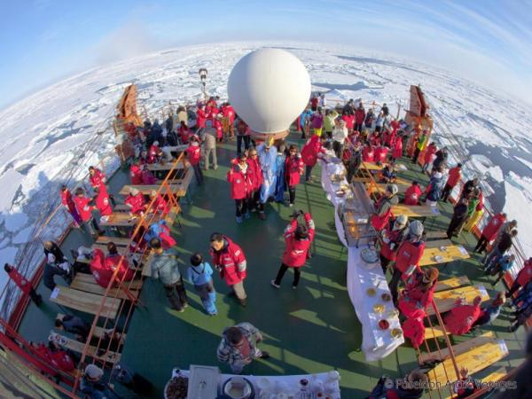 Dine on deck during a signature polar BBQ