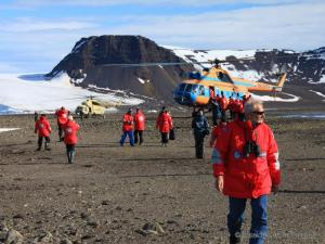 Helicopter excursions will carry you to the rugged shores for excursions