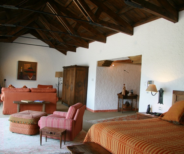 Spacious suites or more traditional guest rooms are available