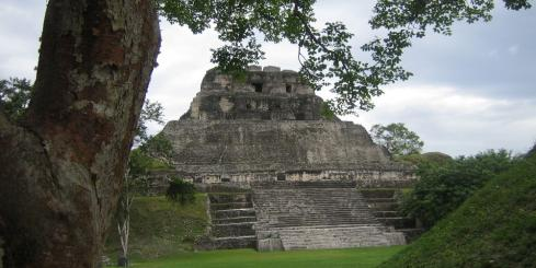 Maya ruins at Xunantunich, Belize