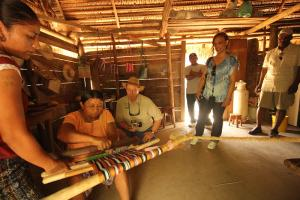 Weaving demonstration at Marta's. The Living Maya Experience