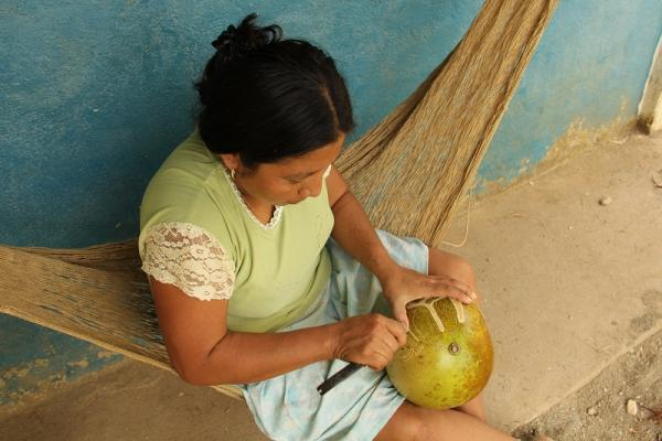 Coconut carving - The Living Maya Experience