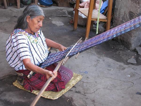 local weaver in Santiago de Atitlan