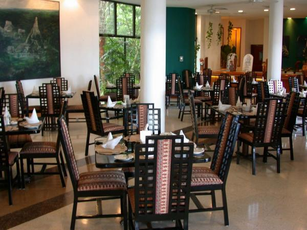 Enjoy your meals in the restaurant at Camino Real Tikal, Flores, Guatemala