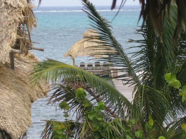 View of dock in Ambergris Cayes