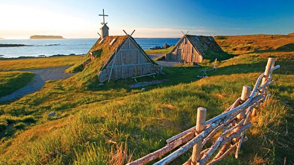 L'Anse aux Meadows - the site of a Viking settlement around the year 1000