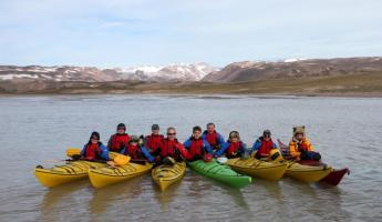 Explore the Arctic aboard a sea kayak