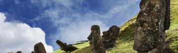 Moai hillside on Easter Island