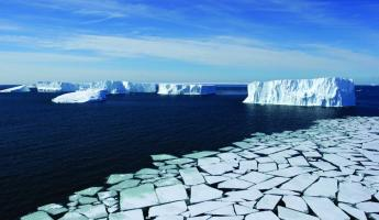 An ocean of icebergs.