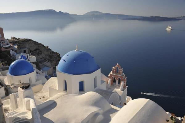 The white-washed cliffs of Santorini
