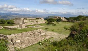 Panorama of Monte Alban, Oaxaca.