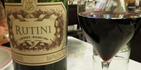Malbec Wine with dinner