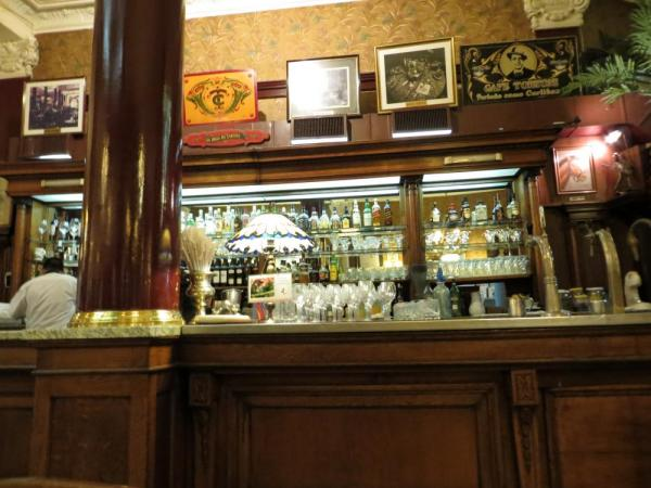 A stop for a coffee at Cafe Tortoni
