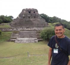 Our guide Miguel at Xunantunich