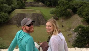 Overlooking the rainforest at Xunantunich ruins