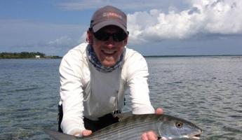 A beautiful bonefish caught at Turneffe Flats!