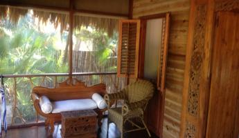 Our screened in porch at the Turtle Inn in Placencia