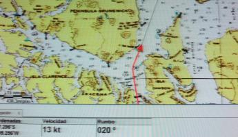 GPS location and route map - next stop Magdalena Island