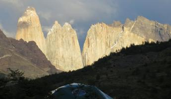 View of Torres del Paine ridge...from Eco Camp