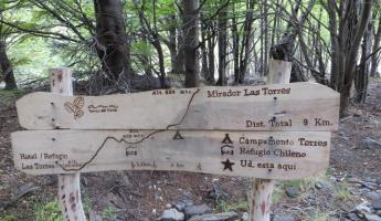 Day 4: A trail sign that doubles as a map