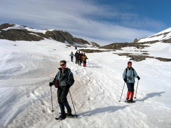 Snowshoeing remote polar destinations