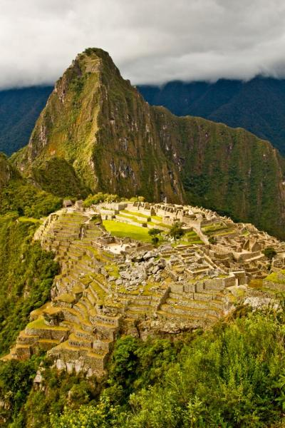 View from the upper trail at Machu Picchu