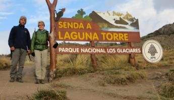 Day 7: The start of our hike to Laguna Torre with our guide