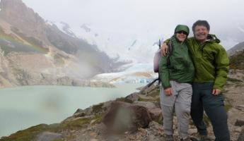 Day 7: Atop the windswept glacier moraine at Laguna Torre
