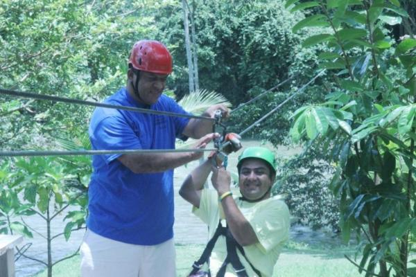 Zipline adventure in Big Falls Village