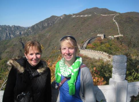 Linda and Laura on the Great Wall of China - Mutianyu