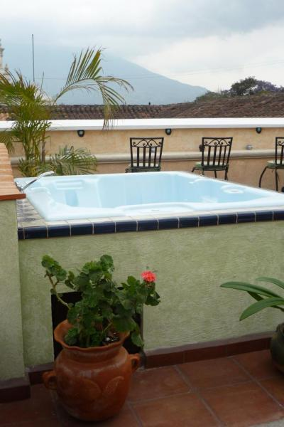 Relax and enjoy the view from the rooftop jaccuzi
