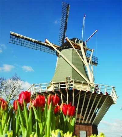 See quintessential Dutch windmills and tulipsin the Netherlands