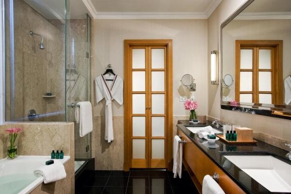 One of Hotel Sofitel's elegant suite bathrooms