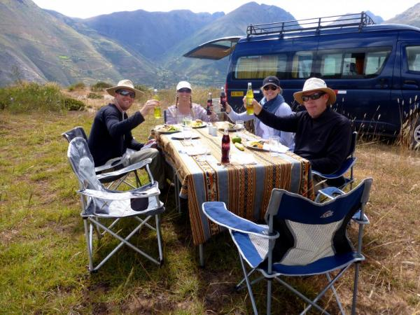 Sacred Valley Picnic - Note the Chairs