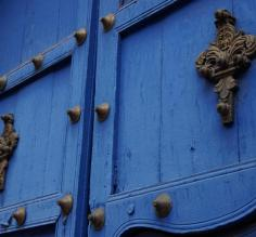 Saw this color blue many places.  Beautiful doors
